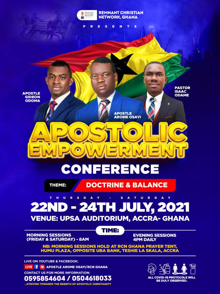 Apostolic Empowerment Conference 2021(Doctrine & Balance)